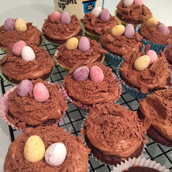 Straight Up Choccy Easter cupcakes