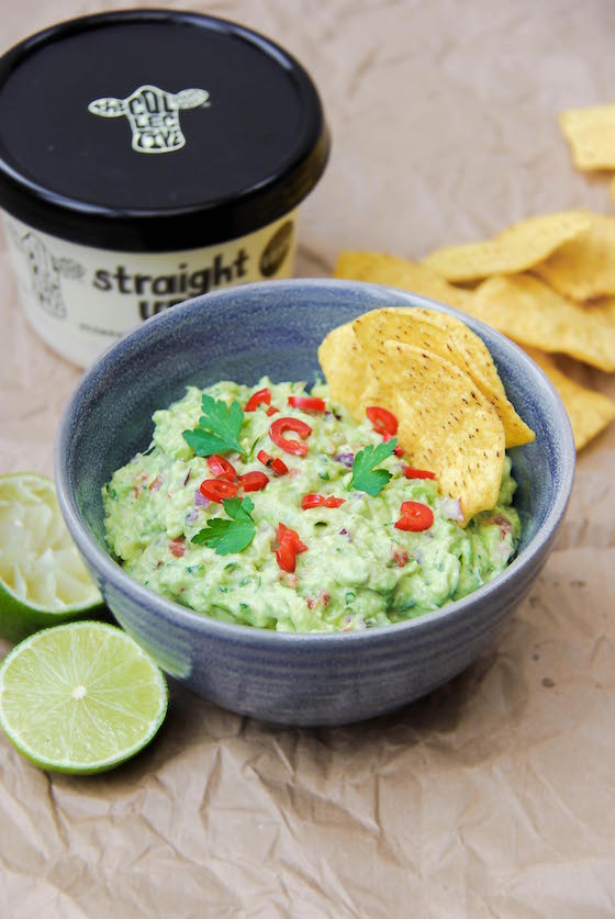 straight up chunky guacamole