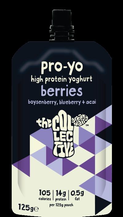 Boysenberry, blueberry + acai pro-yo