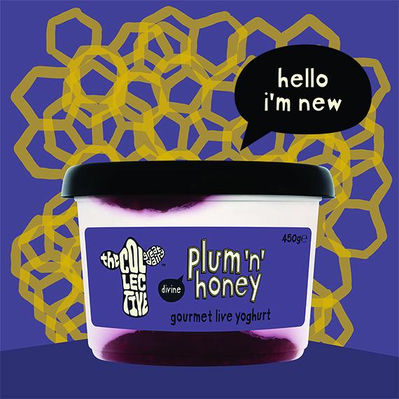 new plum and honey yoghurt