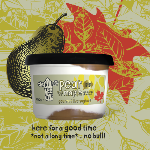 pear and maple limited edition yoghurt