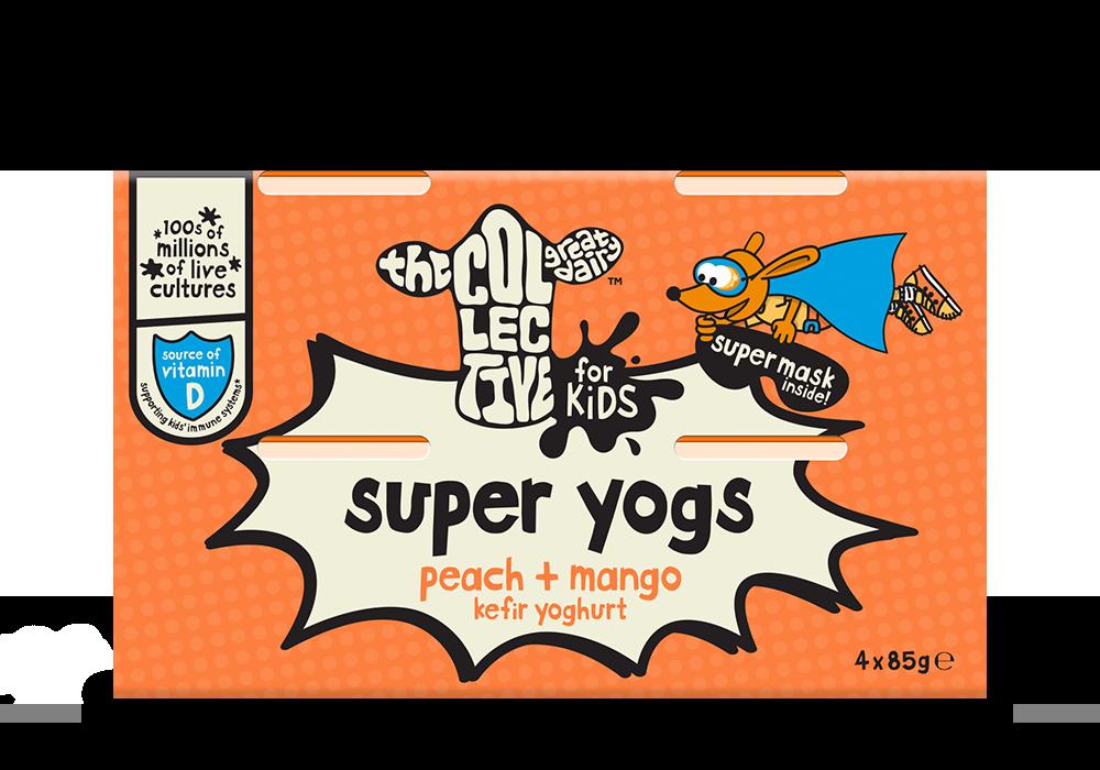 peach + mango super yogs 4x85g